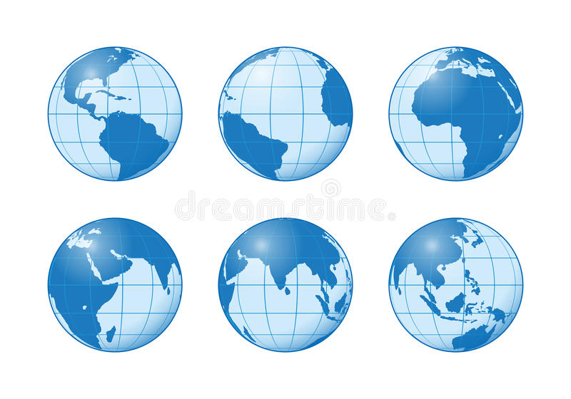 Download Earth globe stock illustration. Image of abstract, global - 18201678
