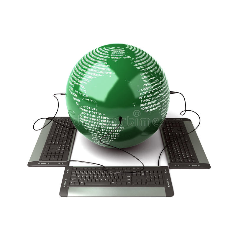 Download Earth Globe stock photo. Image of ideas, binary, technology - 21132962