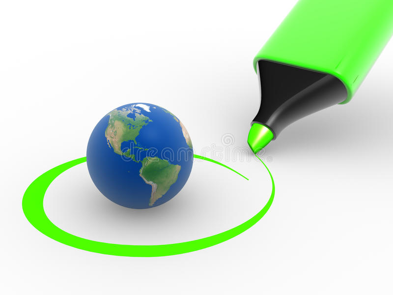 Download Earth globe stock illustration. Image of circled, selection - 23508877