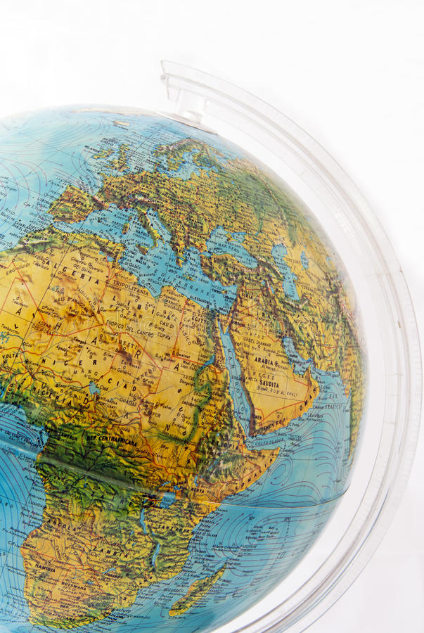 Earth globe stock image