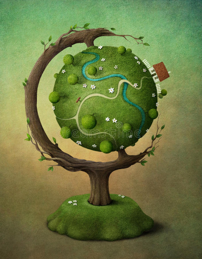 Download Earth globe stock illustration. Image of house, graphics - 24810937