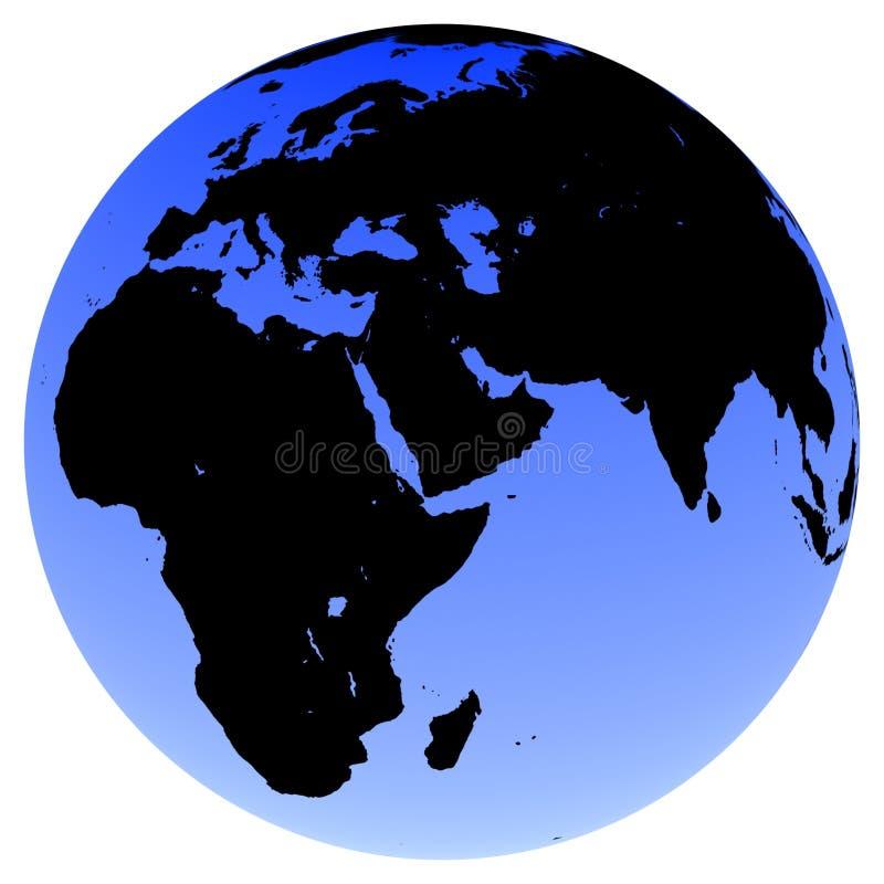 Earth Globe. Virtual earth globe views - Europe and Africa