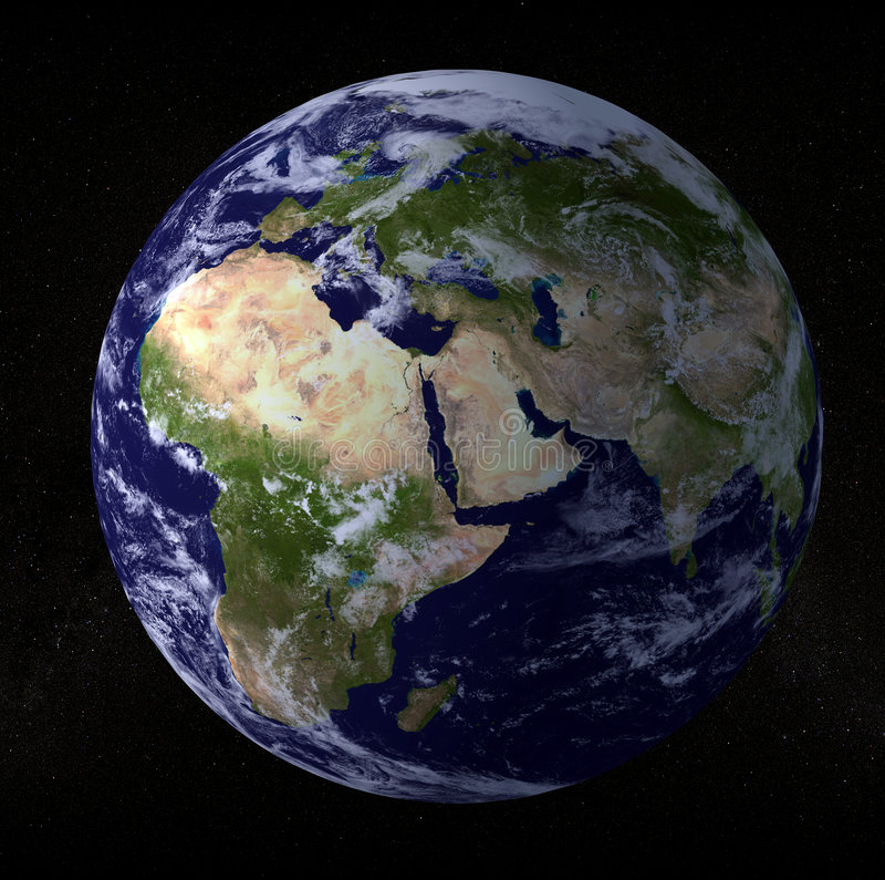 Earth Globe stock illustration