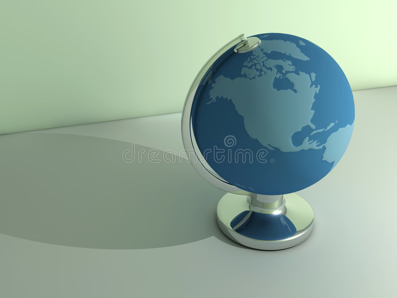 Earth globe. Conceptual Earth globe - rendered in 3d stock illustration