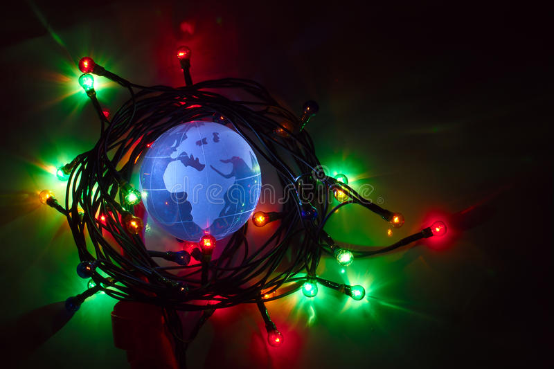 Download Earth Globe Africa Europe Christmas Light Stock Image - Image: 22464971