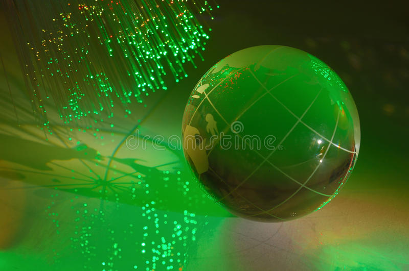 Download Earth globe against fiber stock photo. Image of information - 12174318