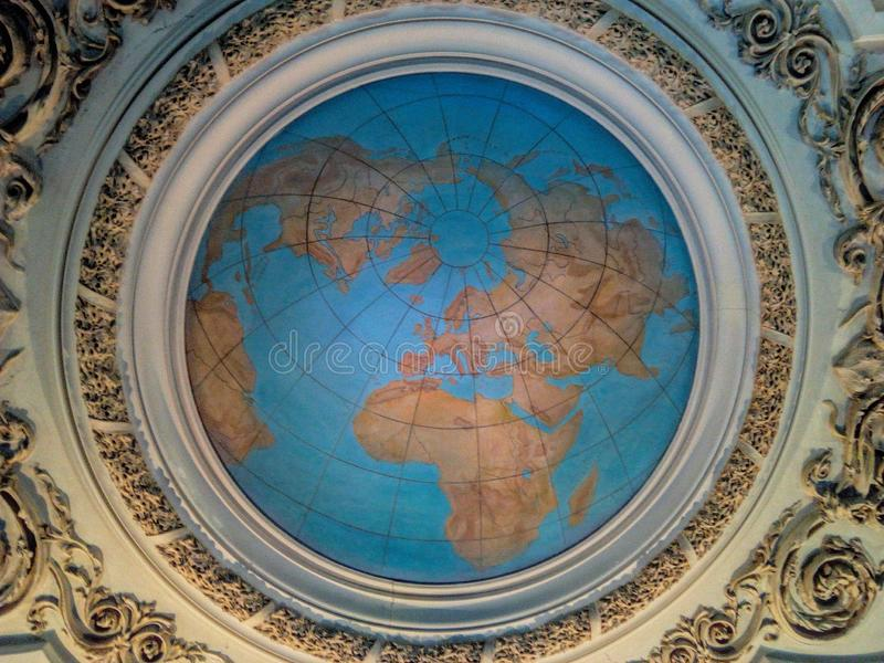Earth Globe Ceiling royalty free stock photography
