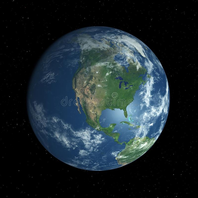 Download Earth Globe Facing North America Stock Illustration - Image: 18481144