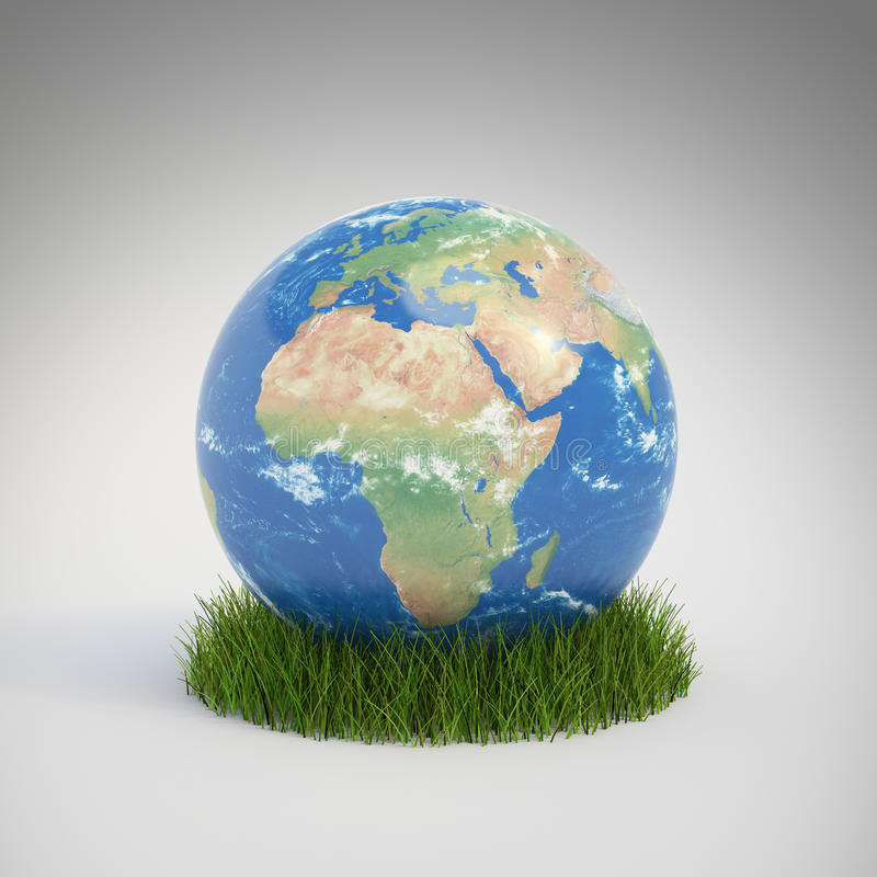 Download Earth Globe Growing In A Patch Stock Illustration - Illustration of energy, continent: 23257724