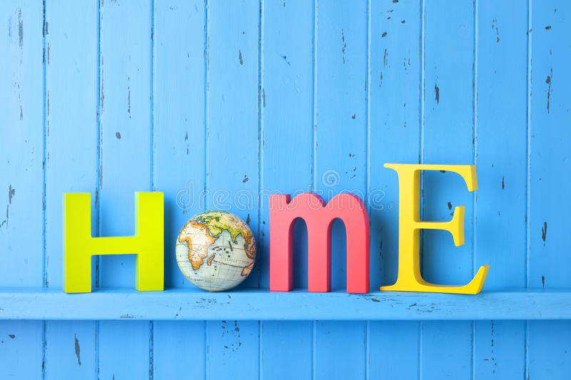Earth Globe Home Background stock image