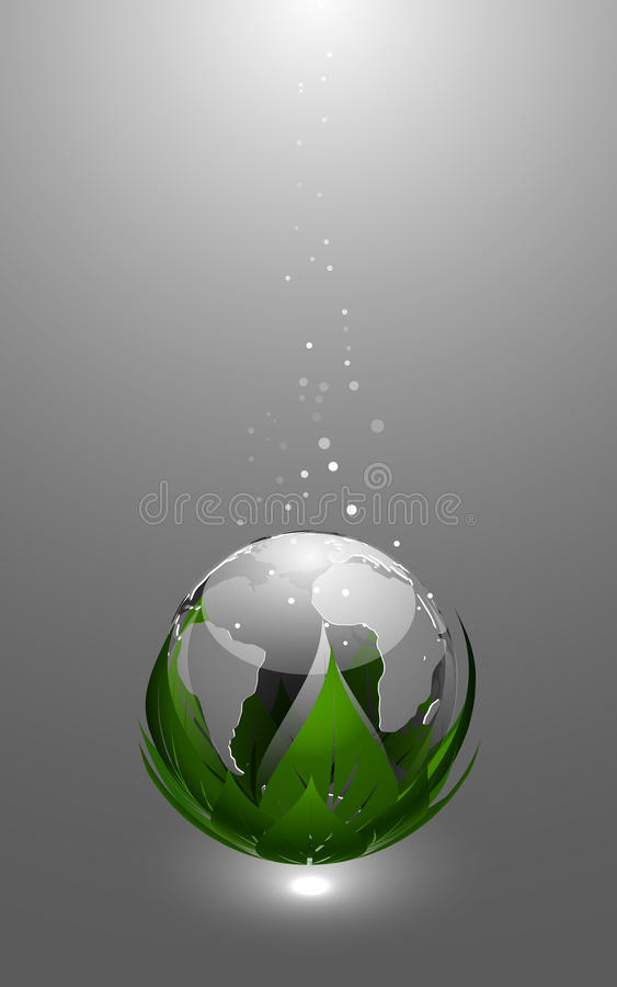 Earth Globe Icon. Abstract Vector Illustration of Glossy Earth Globe Icon stock illustration