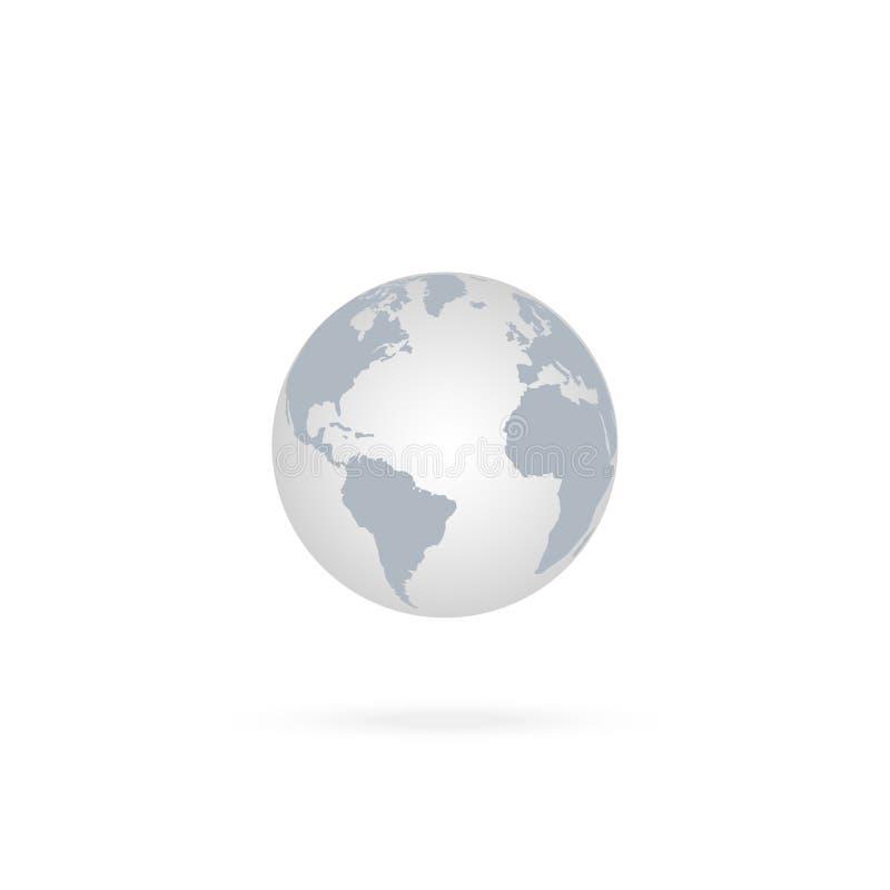 Earth Globe Icon. Vector icon stock illustration