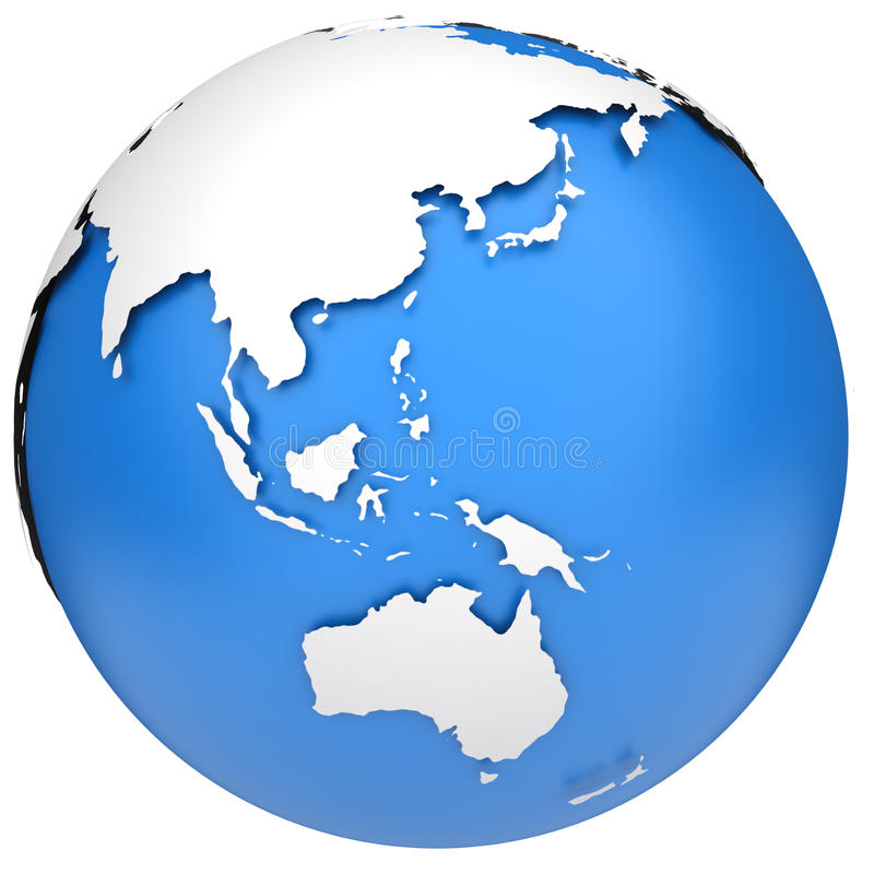 Download Earth globe model stock illustration. Image of isolated - 24564714