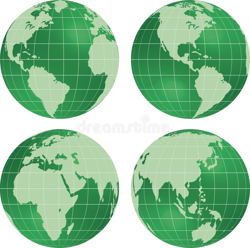 Earth globe planet view. royalty free illustration