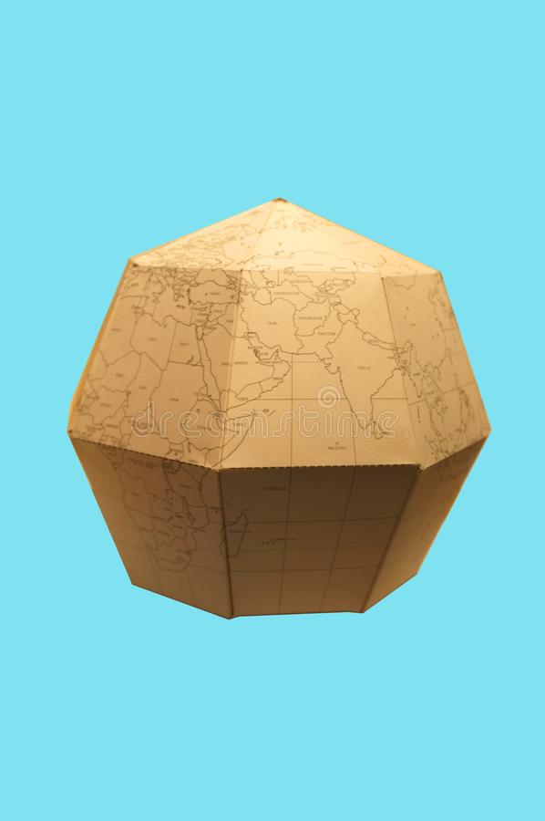 Earth globe Polygonal planet paper stock photos