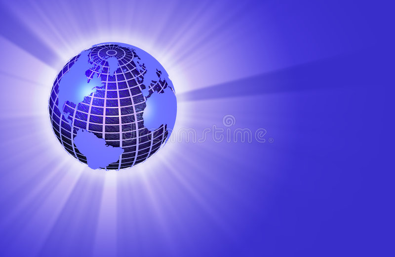 Download Earth Globe Radiating Light - Left Orientation Stock Illustration - Illustration of rays, geography: 115778