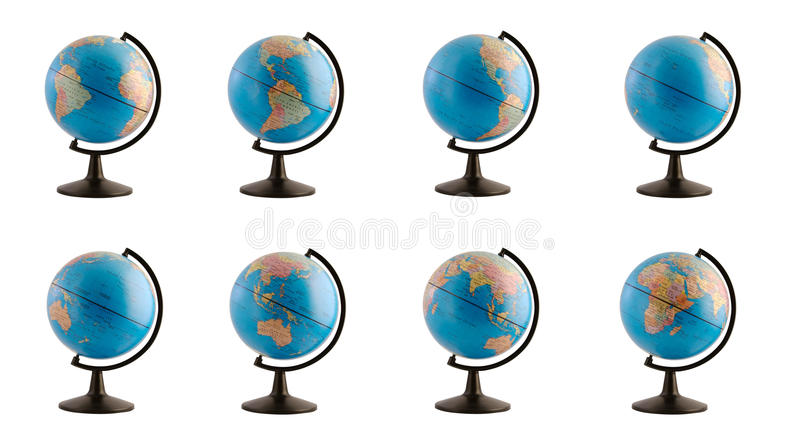 Download Earth Globe In Various Views Royalty Free Stock Photography - Image: 12264907