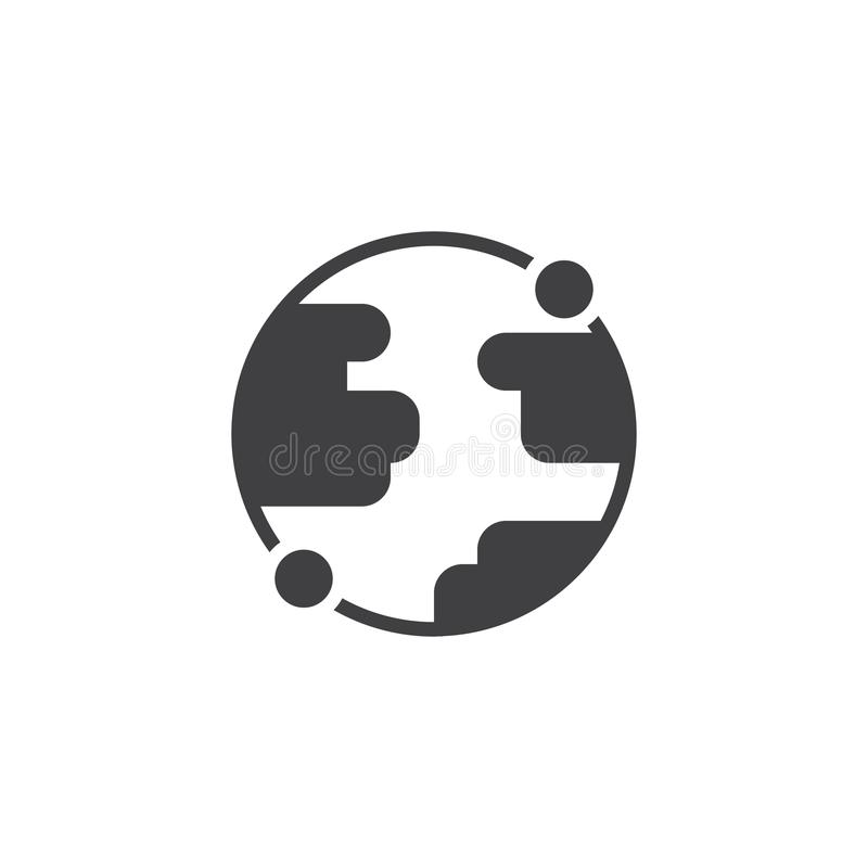 Earth globe vector icon royalty free illustration