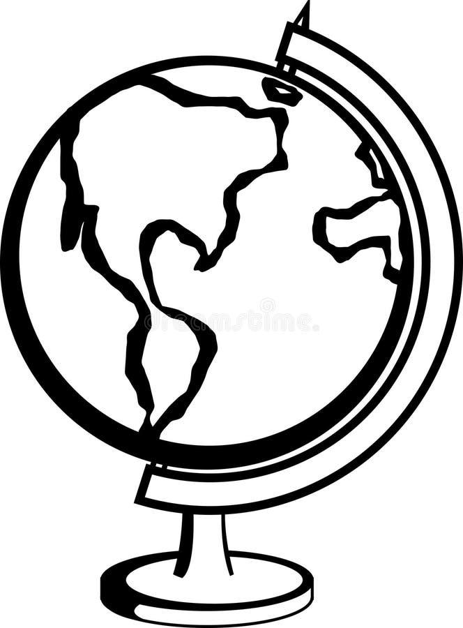 earth globe vector illustration royalty free stock photo