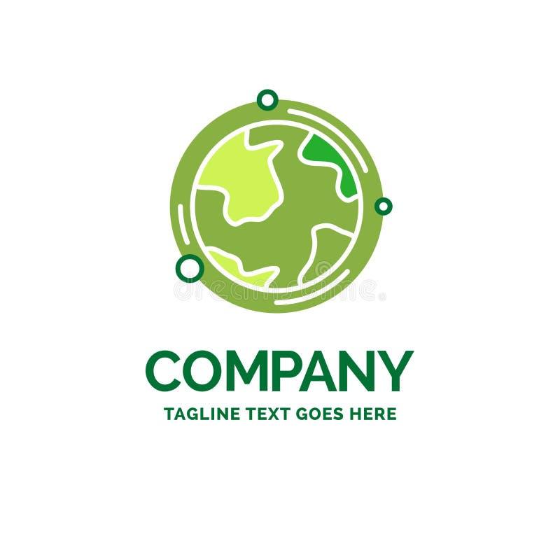 earth, globe, world, geography, discovery Flat Business Logo tem stock illustration