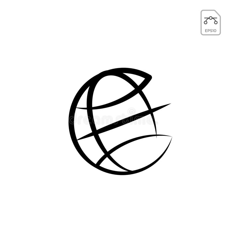 Earth globes isolated on white background. Flat planet Earth icon. Vector illustration or logo inspiration. Earth globes isolated on white background. Flat royalty free illustration