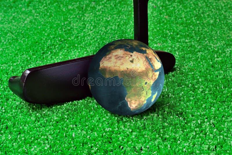 Earth Golf stock photo