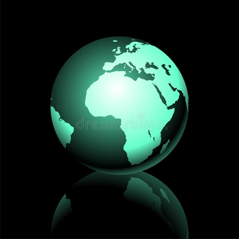 Earth graphic1. Vector earth graphic on dark background royalty free illustration