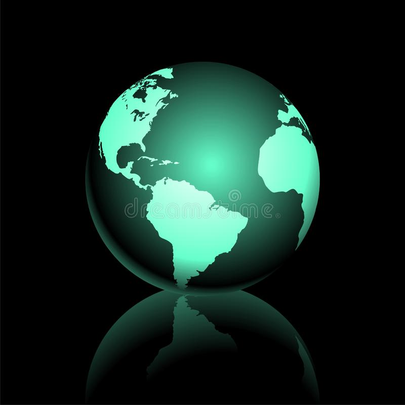 Earth graphic2. Vector earth graphic on dark background royalty free illustration