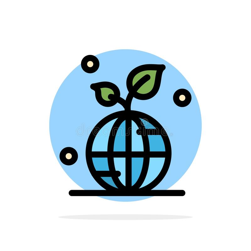 Earth, Green, Planet, Save, World Abstract Circle Background Flat color Icon stock illustration