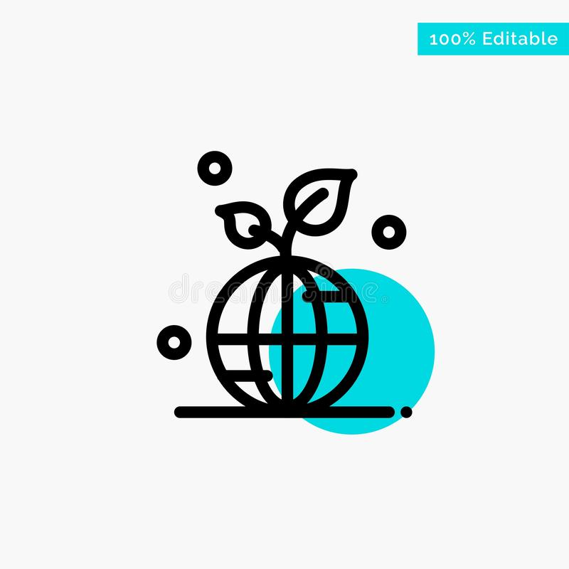 Earth, Green, Planet, Save, World turquoise highlight circle point Vector icon vector illustration