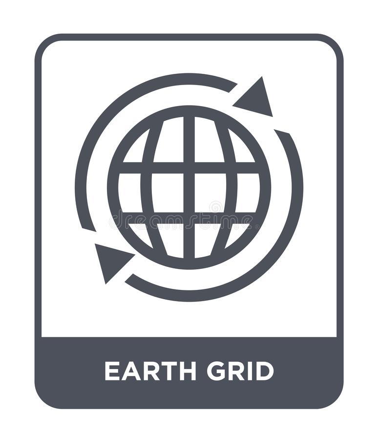 earth grid icon in trendy design style. earth grid icon isolated on white background. earth grid vector icon simple and modern stock illustration