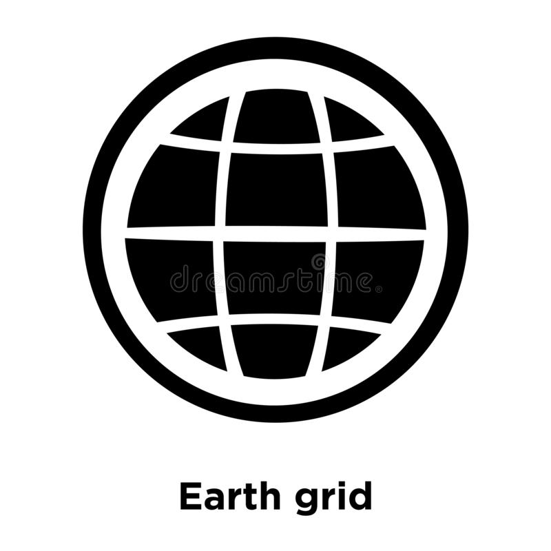Earth grid icon vector isolated on white background, logo concept of Earth grid sign on transparent background, black filled vector illustration