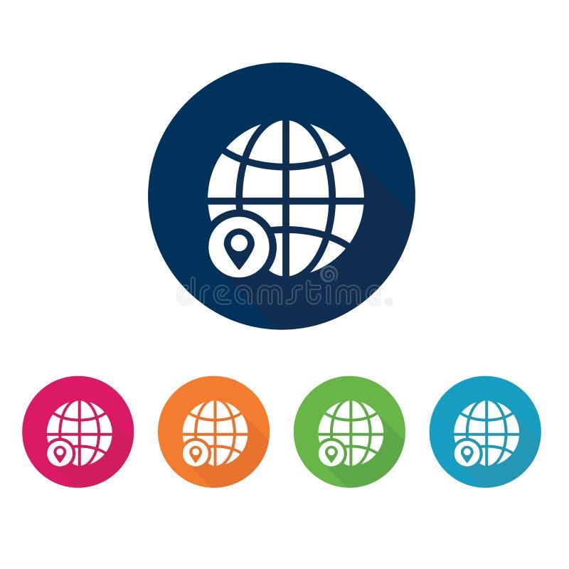 Earth grid symbol. Internet icon. Earth grid. Internet icon. Set of s stock illustration
