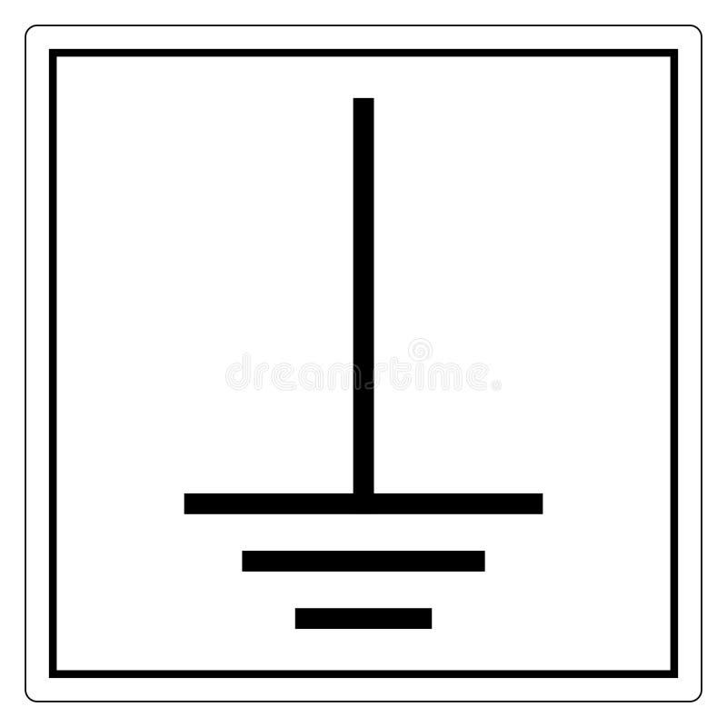 Earth (Ground ) Signe de symbole Isoler sur fond blanc,Illustration vectorielle EPS. 10 illustration stock