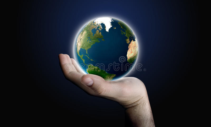 Download Earth in Hand stock illustration. Image of palm, support - 19536816