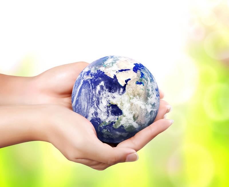 Earth in hand royalty free illustration