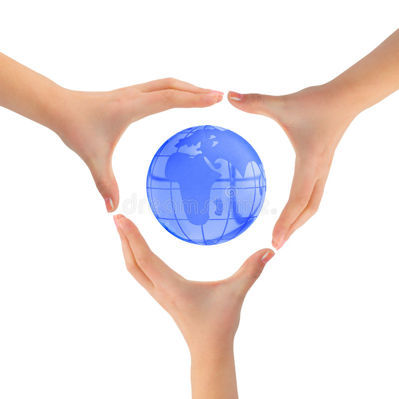Earth And Hands Royalty Free Stock Photo