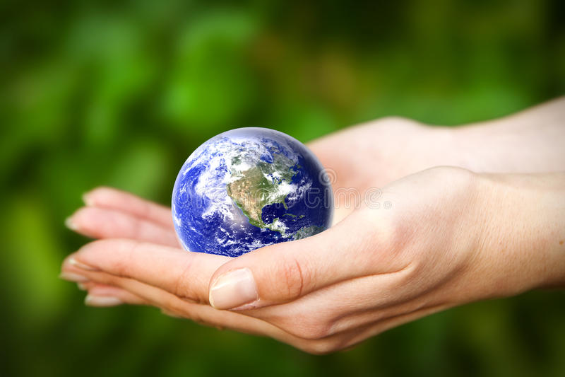 Download Earth In Hands. Glass World Royalty Free Stock Photos - Image: 23116358