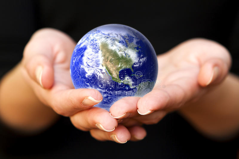 Download Earth In Hands. Glass World Royalty Free Stock Photos - Image: 33265908