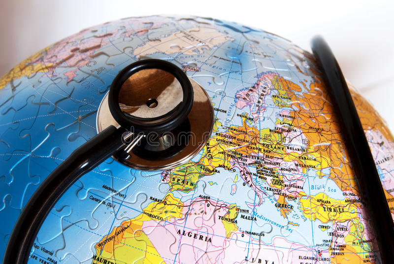 Earth health care royalty free stock photo