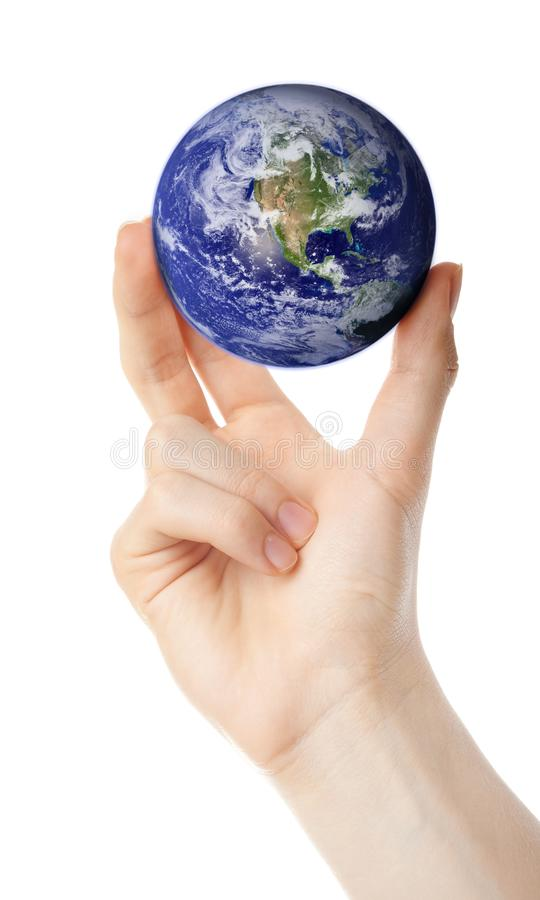 Power over Earth stock image