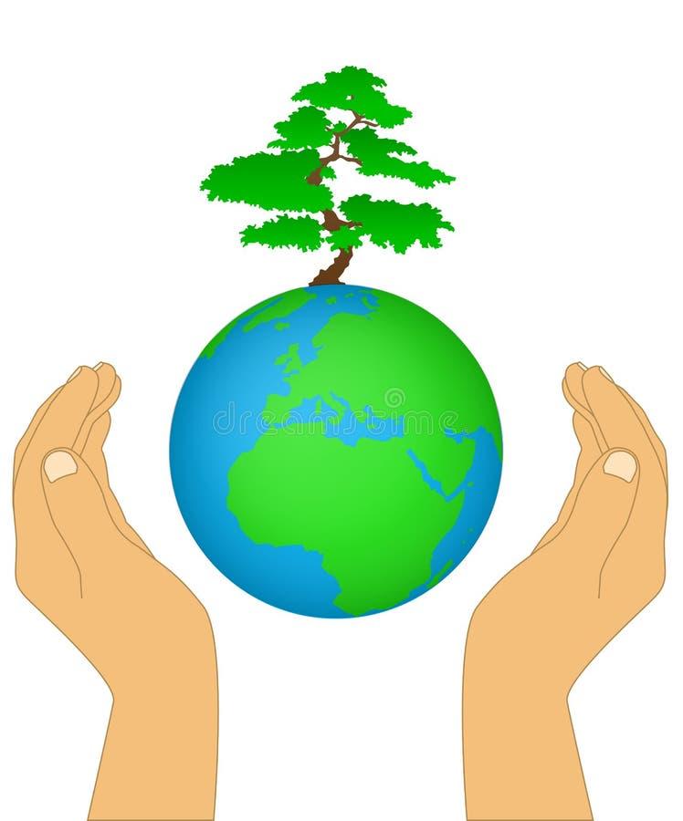 Download Earth In His Hands stock vector. Image of balance, genesis - 27632441