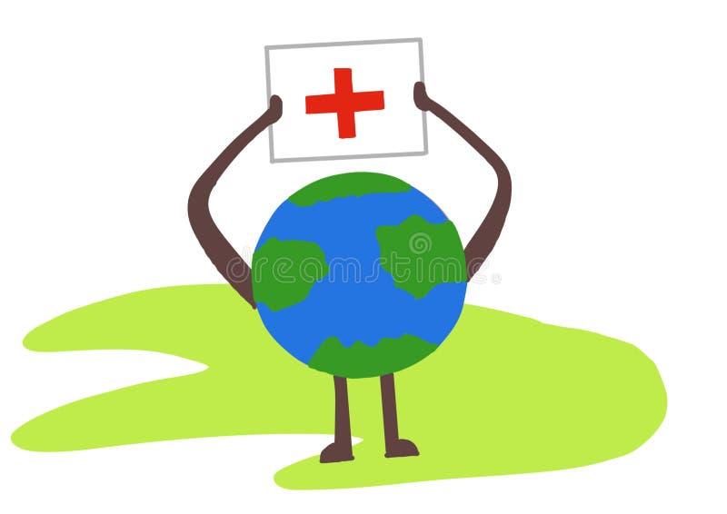 World red cross day symbol vector illustration
