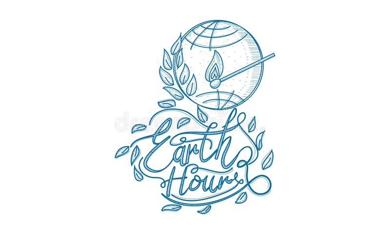 Earth Hour 60 Minute Template. Vector vector illustration