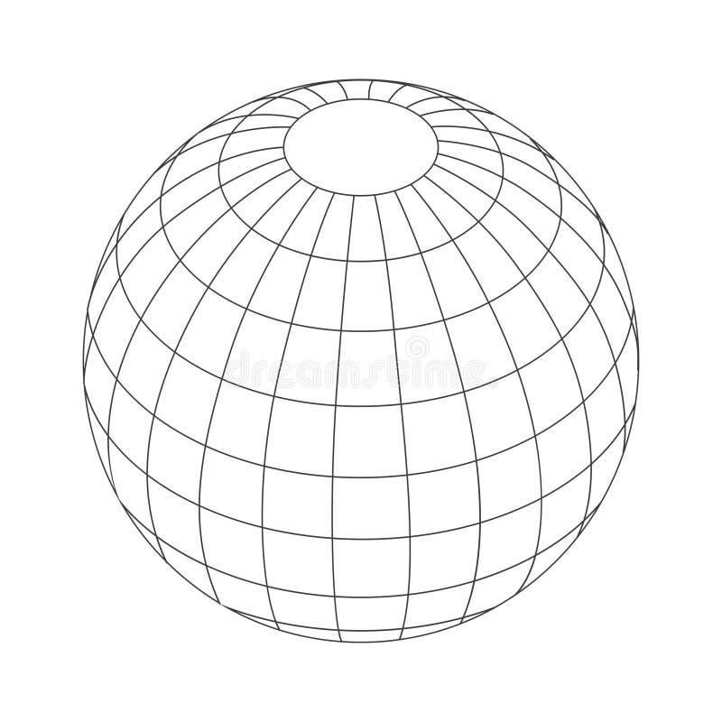 Earth Icon Vector. royalty free illustration