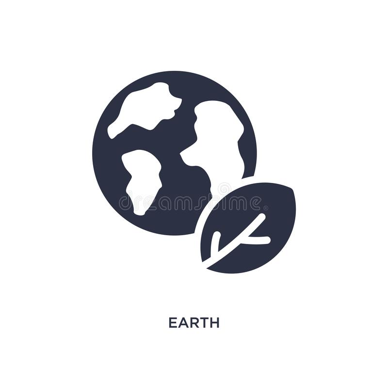 earth icon on white background. Simple element illustration from ecology concept stock illustration