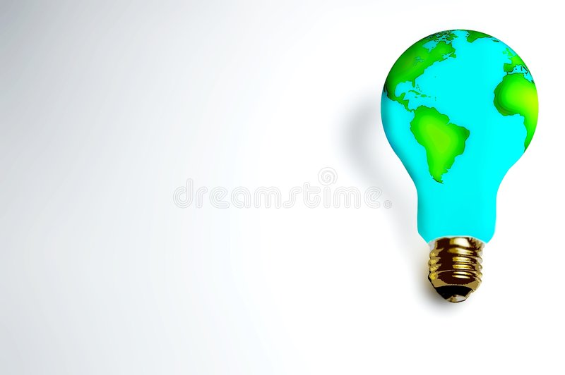 Earth_ lamp royalty free illustration