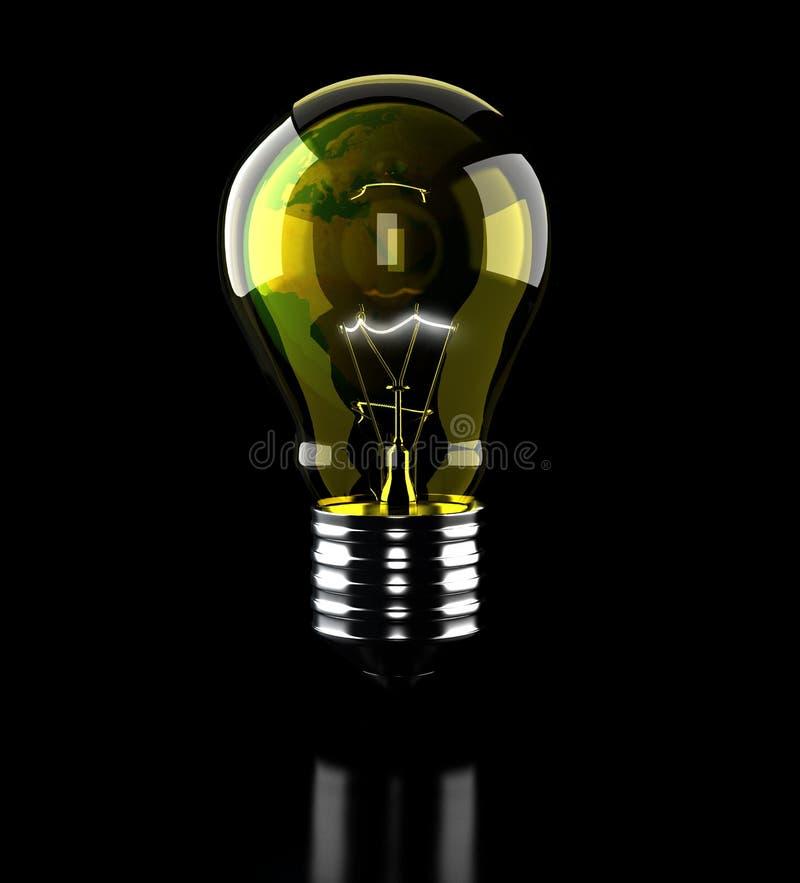 Earth light bulb stock photos
