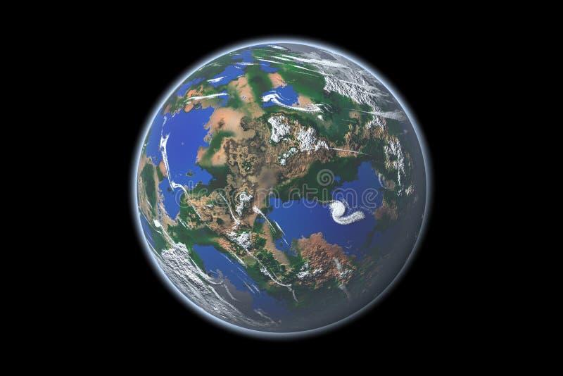 Earth-like Planet lizenzfreie abbildung