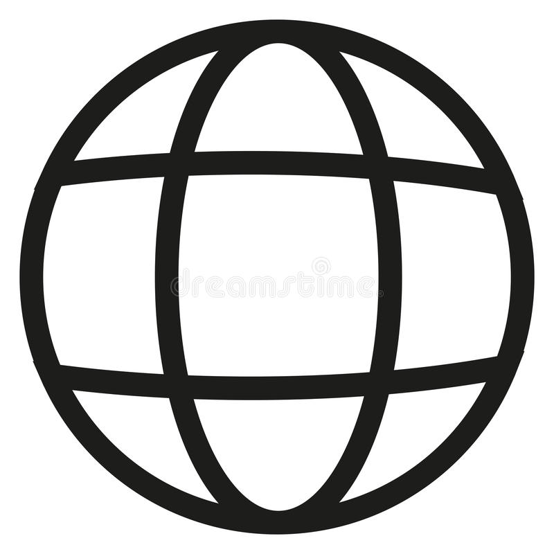 Earth line vector icon stock illustration